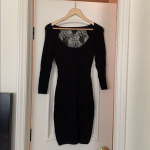 French Connection Black Lace Back Dress- S